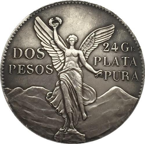 2 pesos1921 libertad moneda de coleccion 39mm