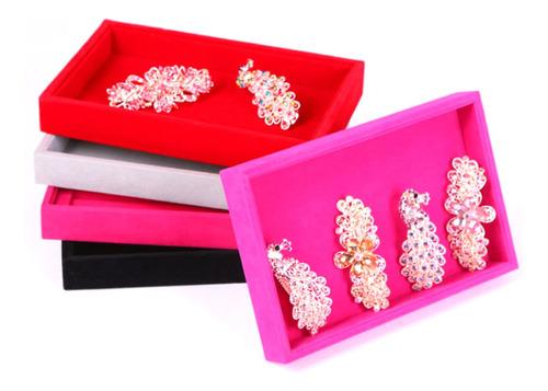 2 pieces veludo colar pulseira brinco peúga jóias bandeja