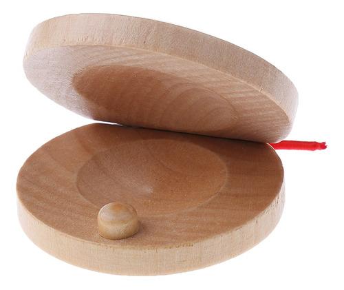 2 piezas castañuelas de madera de percusión flamenco