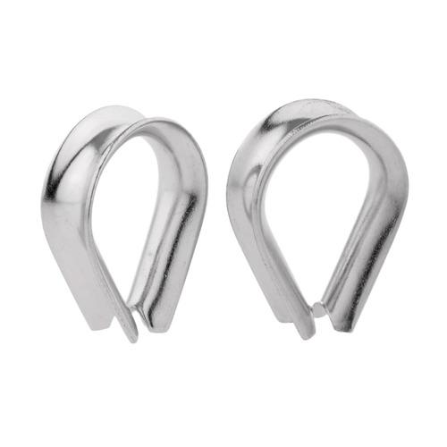 2 piezas de acero inoxidable en forma de corazón de cable d