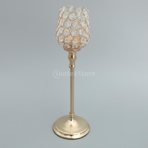 2 piezas de candelabro de cristal porta velas votivas boda