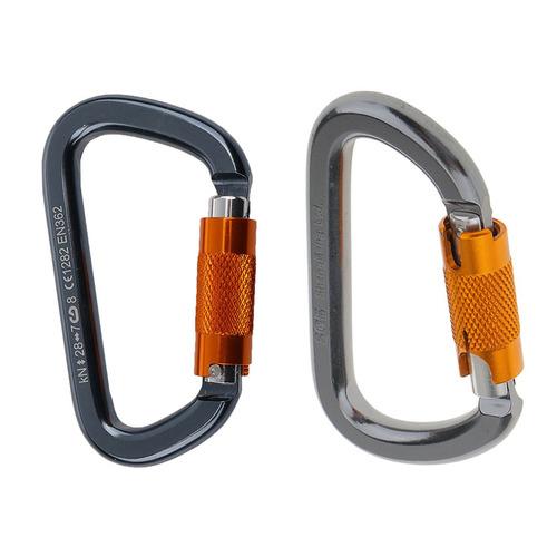 2 piezas de mosquetón 28kn cierre automático montañismo r