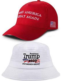 3673c62db1d9 2 Piezas De Sombreros Bordados De Donald Trump 2020 Para Hom