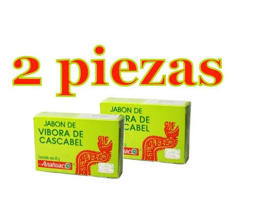 2 piezas jabon vivora de cascabel 90g. anti acné anahuac