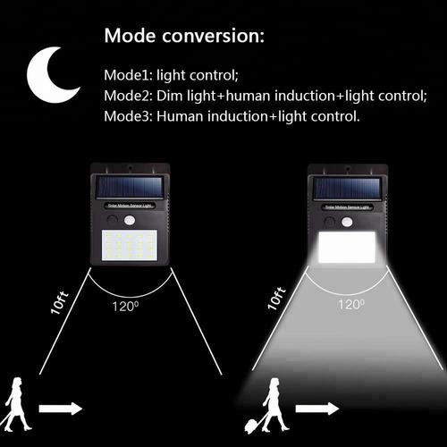 2 piezas lamparas solares 35 led exterior sensor movimiento