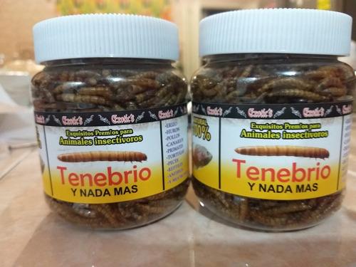 2 piezas tenebrio ecotics premio p/animales insectívoros 50g