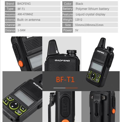 2 piezas (un par) baofeng bf t1 walkie talkie bf t1 envio gr