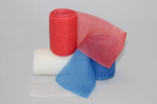 2 piezas vendas fibra de vidrio 10 cm + huata y estoquinete
