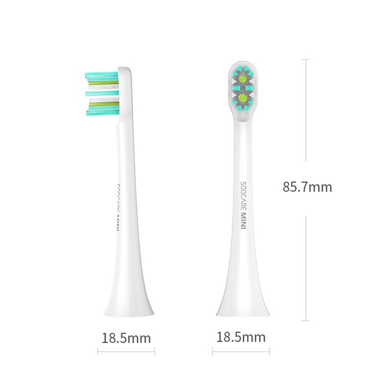 2 Piezas Xiaomi Soocare X3 Toothbrush Head For Smart Wireles -   97.490 en Mercado  Libre 4b8bbaa431ad