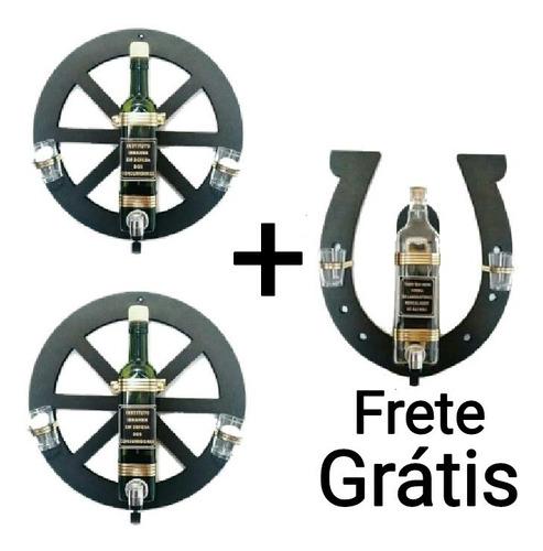 2 pingometro cachaça roda carroça + ferradura frete grátis