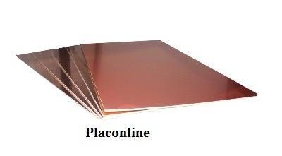 2 placa de fenolite cobreado 10 x 10 cm p/ circuito impresso