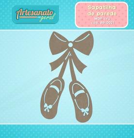 fb7305cf0e Sapatilha Bailarina Mdf - Artesanato no Mercado Livre Brasil