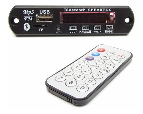 2 placa decodificador usb bluetooth fm mp3 aux 2 peças