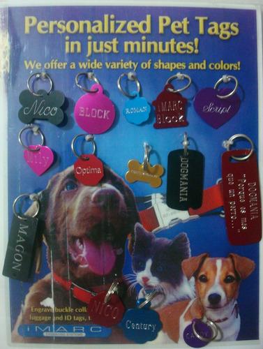 2 placa grabada identificación color perro gato envío gratis