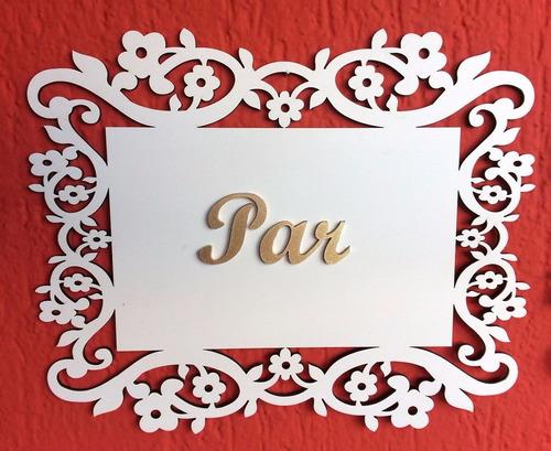 2 placas cadeira dos noivos,cabide da noiva e  topo de bolo