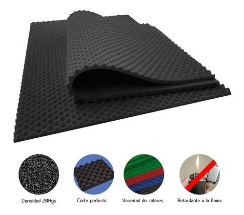 2 placas gigantes espuma acústica 190x120x3.5 cm panel