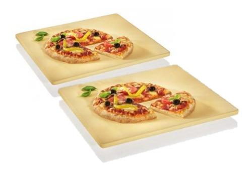 2 placas refractarias de 37 x 31.5 c/u pizza piedra piso