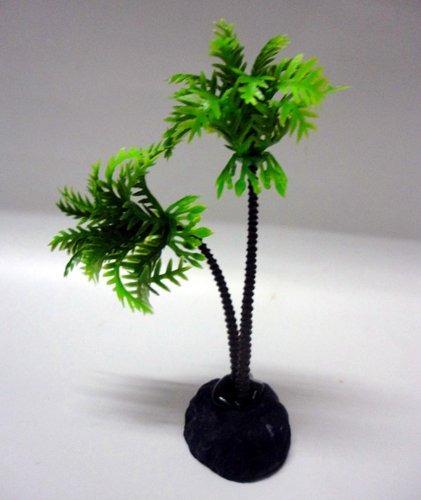 2 plantas pcs plástico coco árbol para el tanque de pescado