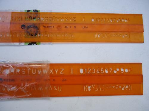 2 plantillas de letrografos  pizzini  ind. argentina