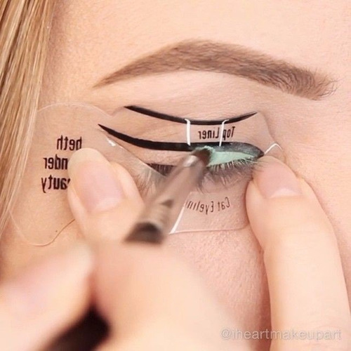 2 plantillas delineados gato maquillaje ojos gu a for Tattoo lining tips