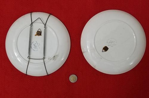 2 platos decorativos - motivos cocina - decoracion vintage