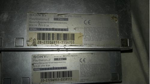 2 play 2 dañado, adaptador y cables.