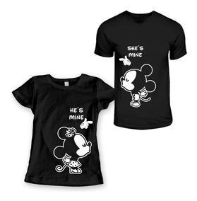 Calidad superior buscar oficial diseño popular 2 Playeras Pareja Novios Mickey Mouse 14 Febrero Amor