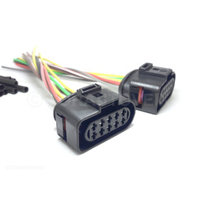 2 Plugs Conector Farol Foco Duplo Gol Saveiro Voyage G3 À G6