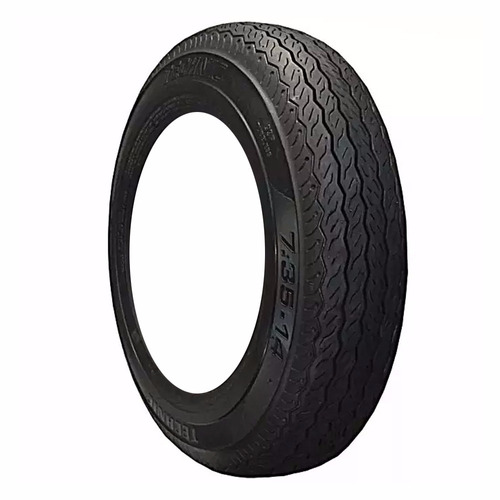 2 pneus carro kombi/opala 735-14 dian/tras s/camara technic