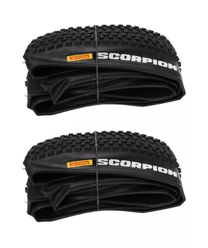 2 pneus pirelli 29 scorpion pro 29x2.20 kevlar original