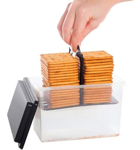 2 porta biscoito bolacha pote plástico com puxador e tampa