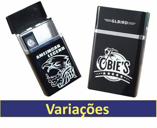 2 porta cigarro isqueiro eletrônico usb recarregável importa