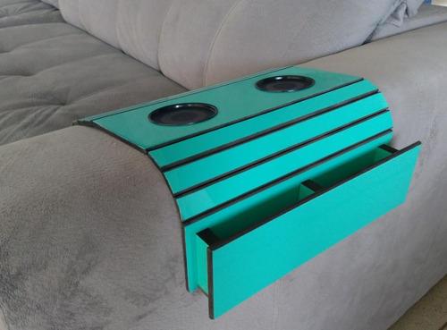 2 porta controle revista caixote esteira mdf bandeja de sofá