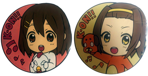 2 portavasos rubber o coaster de k-on! y273
