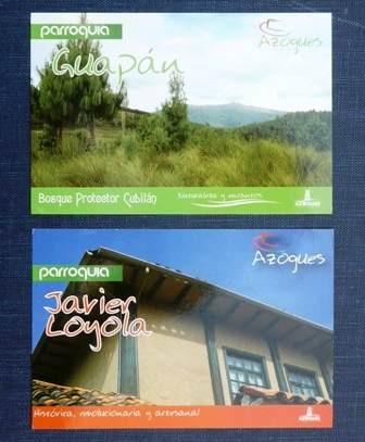 2 postales azogues ecuador javier loyola bosque guapán