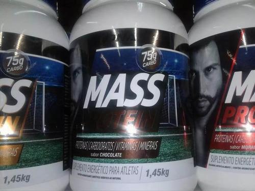 2 potes mass prótein edition 1,45kg dna suplemento