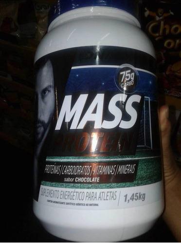 2 potes mass prótein edition fabio 1,45kg dna suplemento