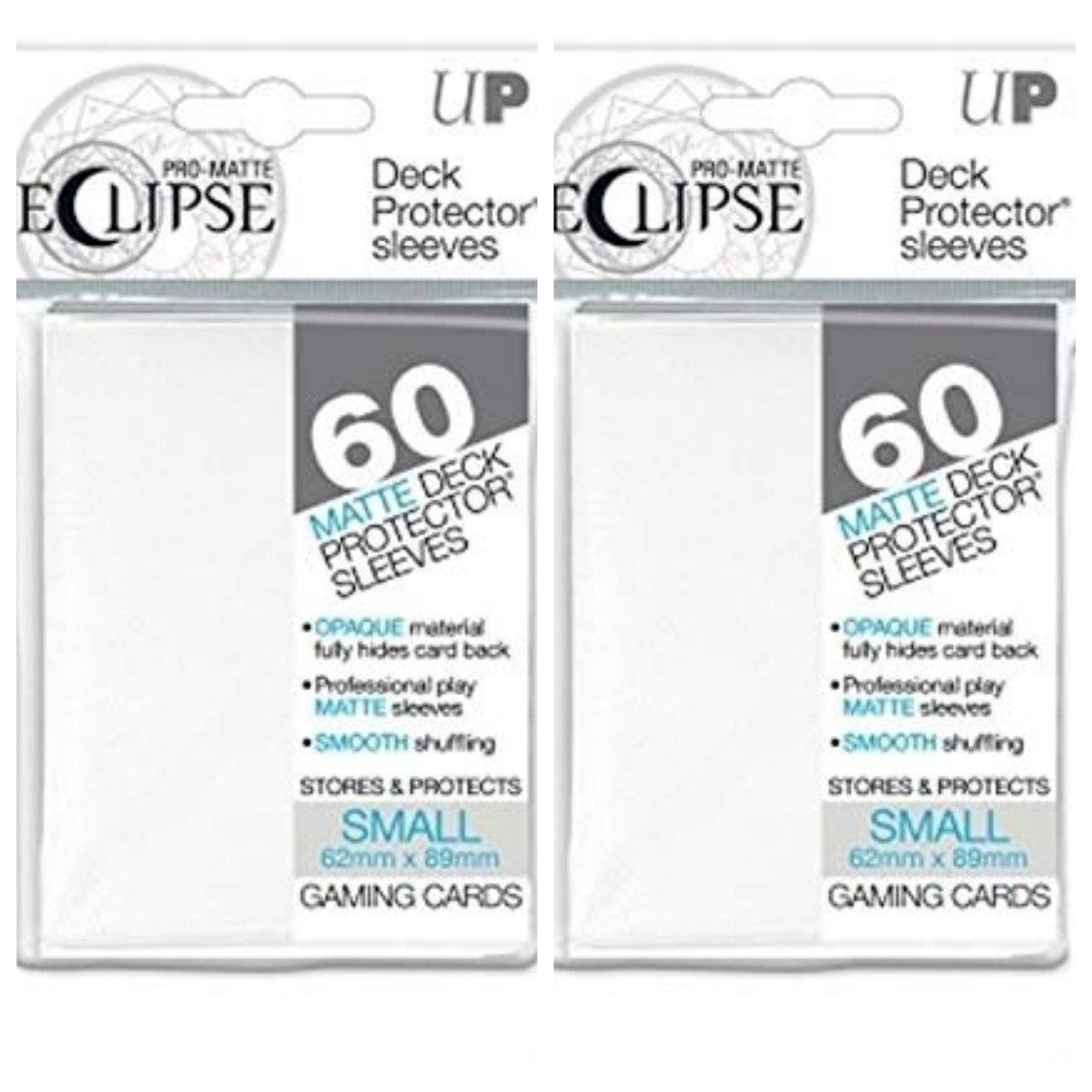 60 White ultra pro eclipse small sleeves 62x89mm