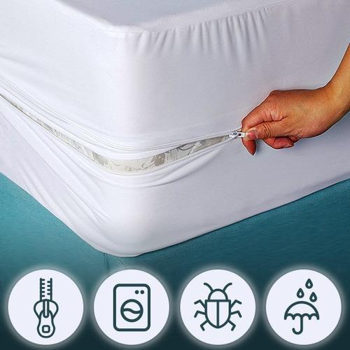 2 protectores individuales con cierre 2 fundas para almohada