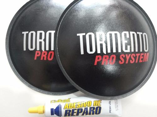 2 - protetor calota para fal tormento pro system160mm + cola