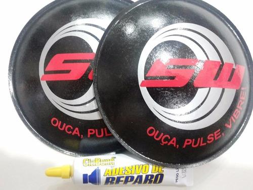 2 - protetor calota para falante sw 160mm + cola