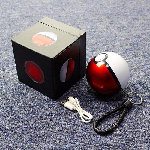 2 puerto usb cargador portatil pokebola power bank 12000 mah