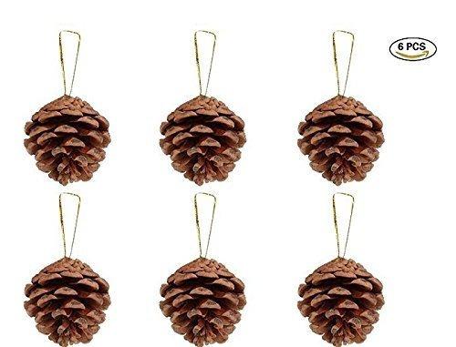 2 pulgadas de pino rustico conos adornos para el hogar decor