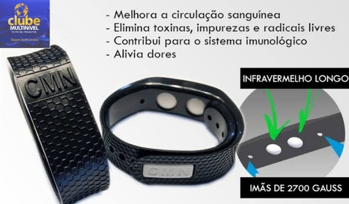 2 pulseiras biomagnética cmn - a melhor para saúde fir