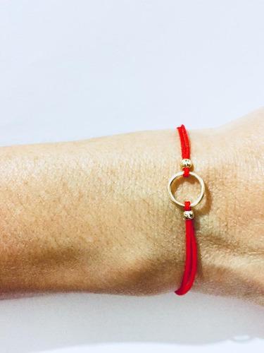 2 pulseras hilo rojo amor corazón baño oro precio mayoreo