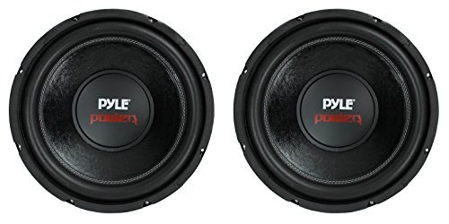 2) pyle plpw12d 12  3200w 4ohm car stereo audio subwoofer po