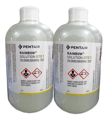 2 pz ortotolidina medir cloro alberca oto reactivo 480ml