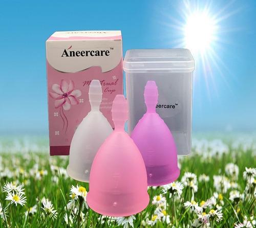 2 pzas copas menstruales - segura y suave + bolsitas gratis