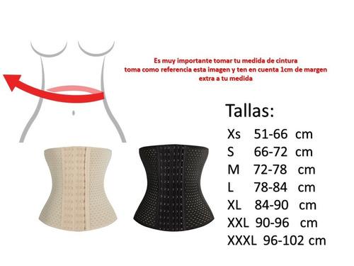 2 pzas faja reductora corset cinturilla transpirable premium