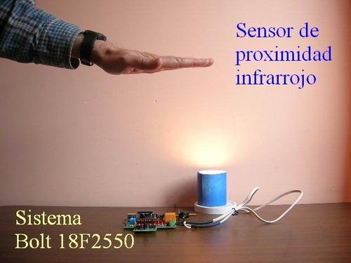 2 pzs. sensor de proximidad infrarrojo sistema bolt 18f2550